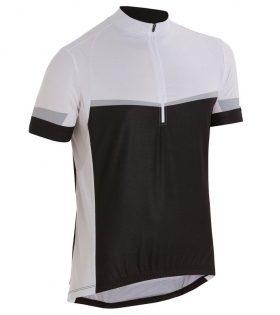 BTWIN Kısa Kollu Jersey Siyah / Beyaz